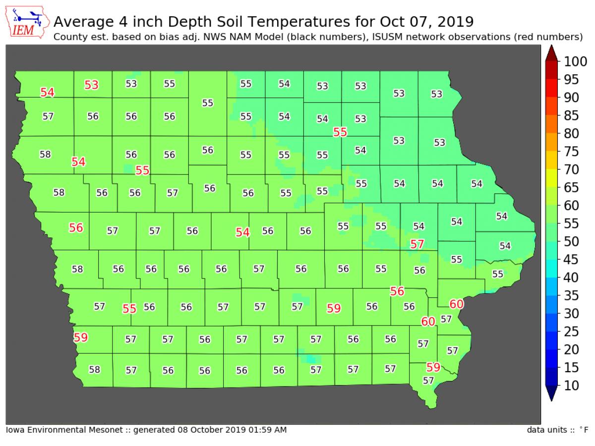 Soil temp 100819