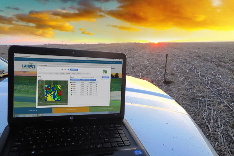 Precision Ag Computer on hood of truck vf