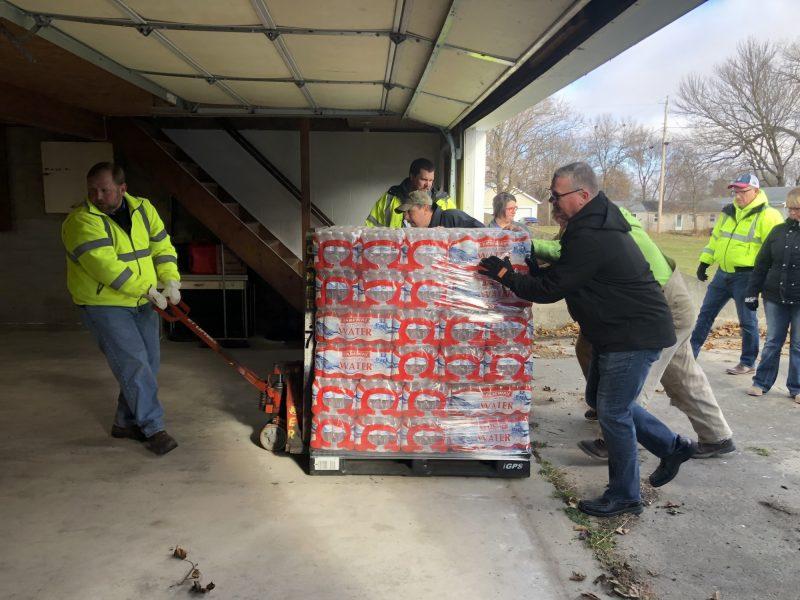 Unloading Water at Bagley