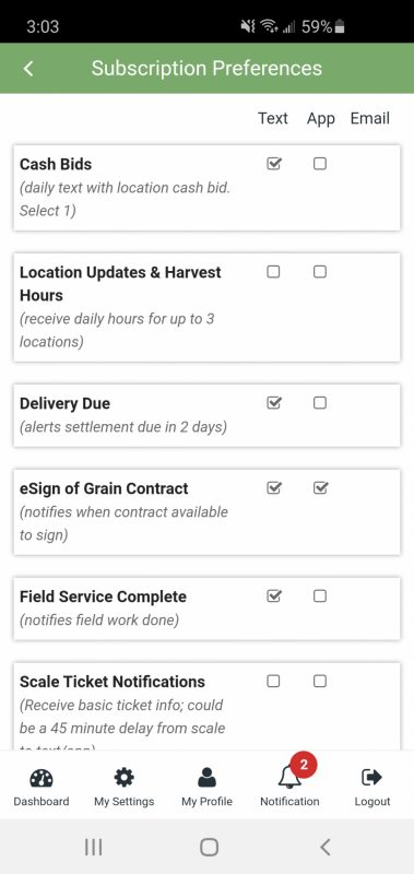 Harvest hours subscription 1