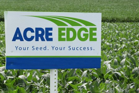 Acre Edge Field Sign in Soybean field vf