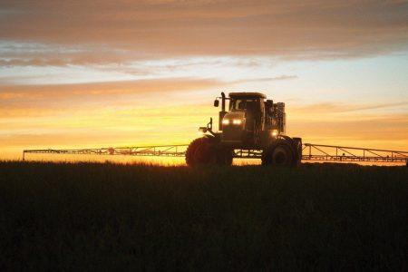 Rogator At Sunset