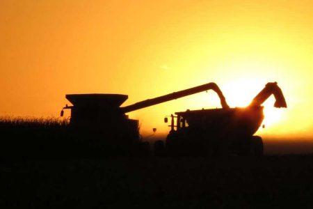 Sillouette Harvest Sunset