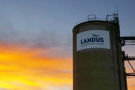 Sillouette Landus Cooperative Silo Sunrise Landus Cooperative