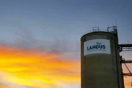 Sillouette Landus Cooperative Silo Sunrise