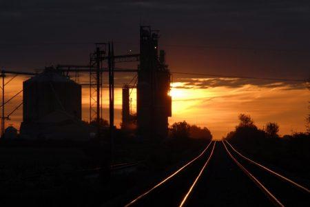 Sillouette Sunset Location Rail