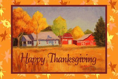 Thanksgiving farm card ruth soller